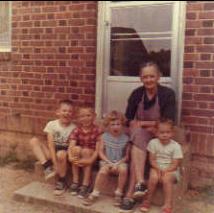 Grandma & Grandkids (Me, center)