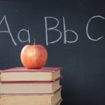 ABCs, apple, & chalkboard